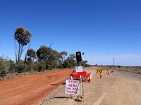 オーストラリアの道路工事