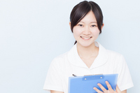 Female nurse with a medical record Stock photo [2418450] Female
