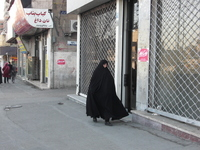 Women who walk the Iranian town Stock photo [2419138] Iran
