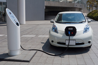 Electric vehicle charging Stock photo [2420412] Electric