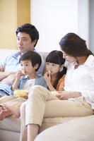 Family holiday family watch TV Stock photo [2425247] Family
