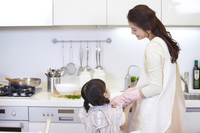 Parent and child to prepare for meal Stock photo [2425571] Family