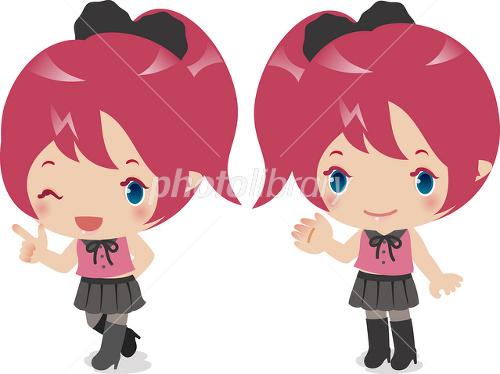 アニメキャラクターのような女の子 イラスト素材 2540232 フォト