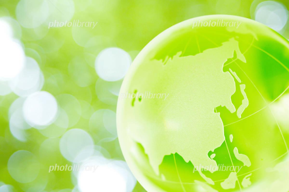 Globe in green Photo