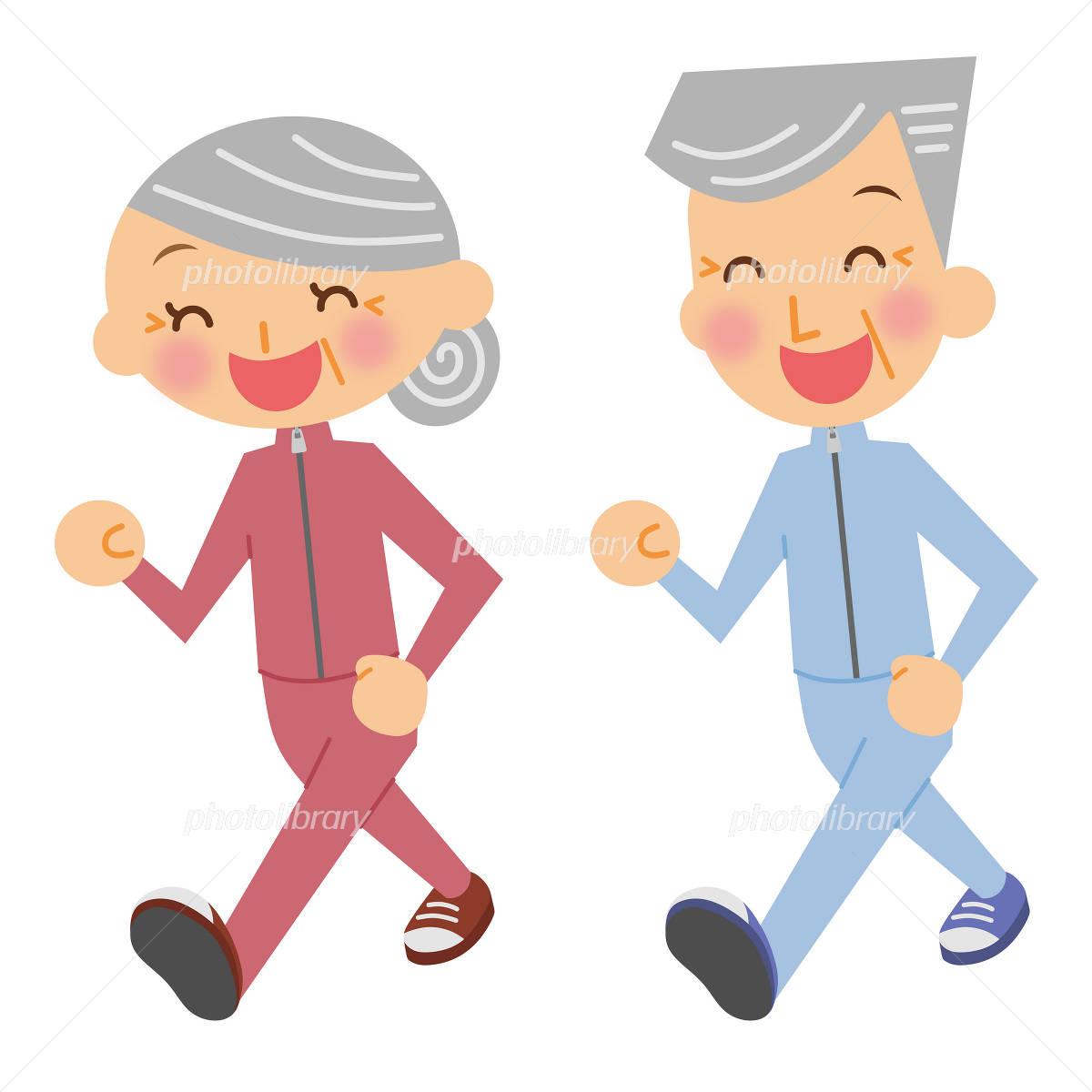Senior Walking イラスト素材