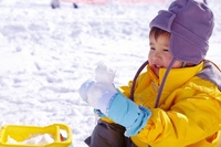 Children snow mountain Stock photo [2529809] Kids