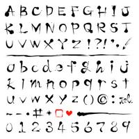 Calligraphy alphabet font [2530371] Alphabet