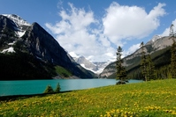 Spring Lake Louise Stock photo [2530573] Landscape