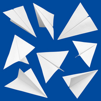 Paper airplane cutouts blue background Stock photo [2532725] Paper