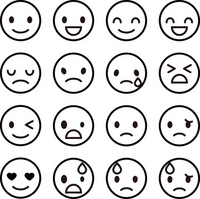Simple icon of expression [2533609] Face