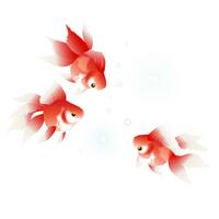 Goldfish summer greeting [2537939] Summer