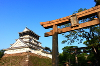 Kitakyushu Kokura Castle and Torii Stock photo [2538531] Kitakyushu