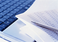 Keyboard and documents Stock photo [2539418] PC