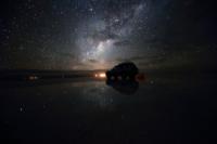 Bolivia Uyuni salt lake starry sky Stock photo [2540864] Hoshikei