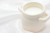 Milk and white satin fabric Stock photo [2540901] Milk
