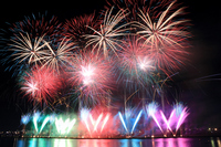 Edogawa fireworks Ichikawa Summer fireworks Stock photo [2544112] Edogawa