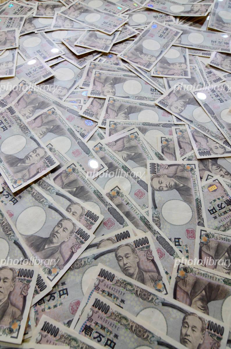 Ten thousand yen bills Photo
