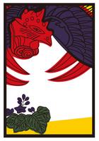 "Hanafuda image of a postcard ""phoenix to Kiri"" [2653372] An"