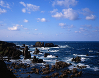 OGA peninsula nyudo Saki Stock photo [3104] Akita
