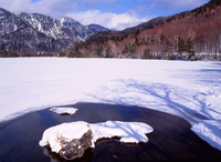 Lake water in winter Stock photo [3909] Tochigi