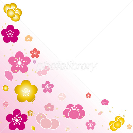 梅の花 きらきら お正月 お目出度い 春 イラスト素材 2732903