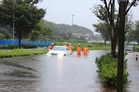 Wind and flood damage Stock photo [2736598] Typhoon