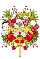 New Year decorations rake [2738020] Rake