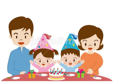 誕生日 家族 ケーキ パーティー イラスト素材 2818142 フォト