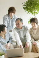 Family View laptop Stock photo [2816969] Person