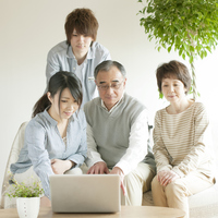 Family View laptop Stock photo [2816973] Person