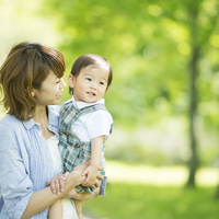 Mother smile holding a baby Stock photo [2818825] Person