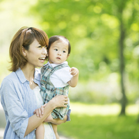 Mother smile holding a baby Stock photo [2818826] Person
