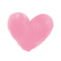 Watercolor Heart Pink [2821394] Hart