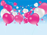 Heart balloon sky Small [2821643] Balloon