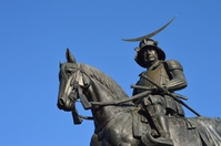Date Masamune equestrian statue Stock photo [2825410] Date