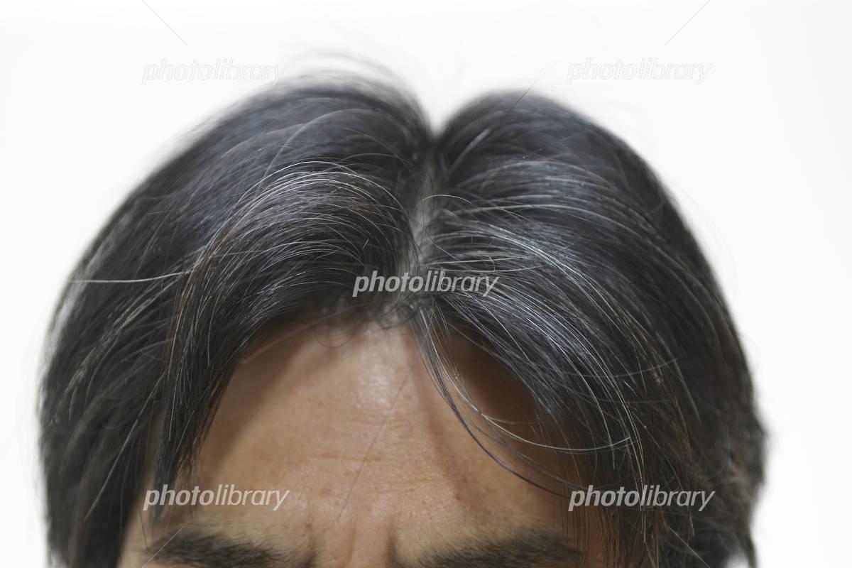 hair of men gray hair has grown Photo