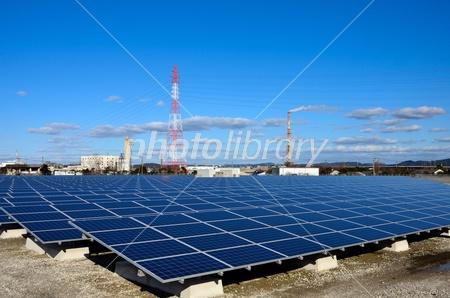 Factory area of mega solar. Photo