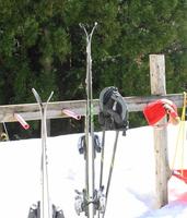 Skis that are pierced to the snow Stock photo [2909645] Ski