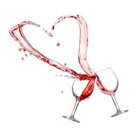 Wine to draw a heart Stock photo [2910402] Hart