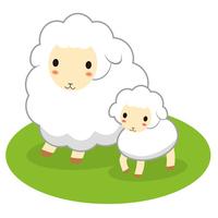 Sheep parent-child illustrations of Sheep