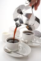 Vertical pouring direct fire espresso Stock photo [2994303] Coffee