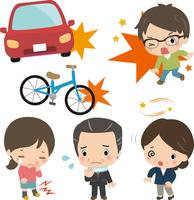 交通事故と後遺症の写真素材