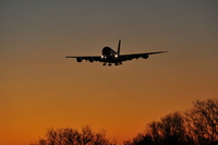 Sunrise and wings Stock photo [3167306] Airplane