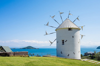 Olive Park Greece windmill Stock photo [3170382] Shodoshima