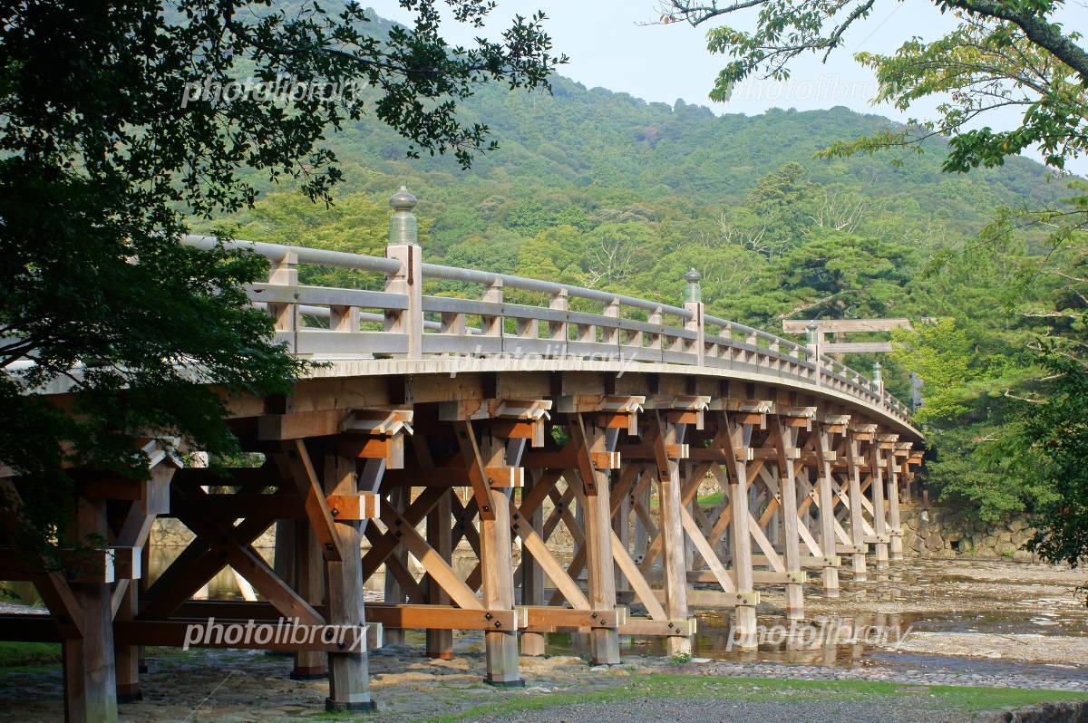 Mie Prefecture Ise Shrine Uji Bridge Photo
