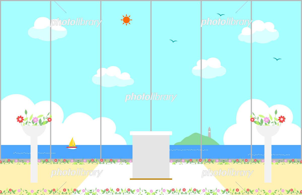 海の見えるチャペル イラスト素材 3279829 フォトライブラリー