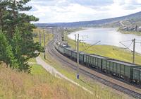 Trans-Siberian Railway catching wagons Stock photo [3269314] Russia