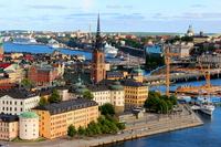 Gamla Stan to see from the tower of the Stockholm City Hall Stock photo [3271997] Stockholm