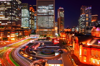 Night of Tokyo Station Stock photo [3368719] Tokyo