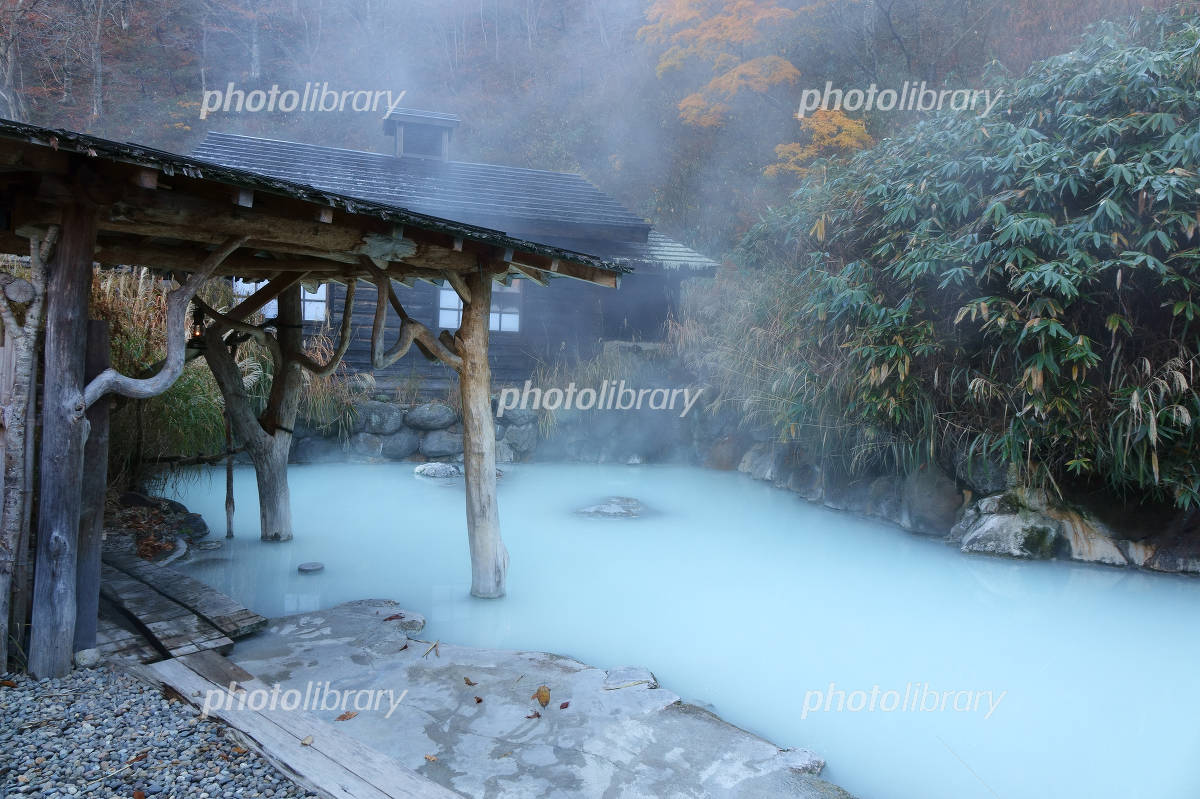 Onsen Akita Prefecture nipple hot spring village crane Photo